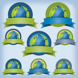 Erd-und Umwelt-Fahne Stockbild