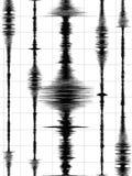 Erdbeben bewegt Diagramm wellenartig Stockfotografie