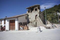 Erdbebennachwirkungen Stockfoto
