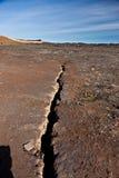 Erdbebenspaltzeile Stockbild