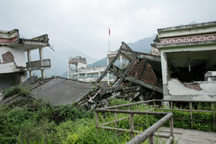 Erdbebenstandort Chinas Sichuan Stockbild