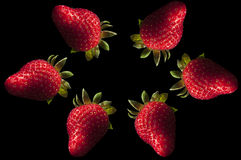 Erdbeerabstraktes Hintergrundkonzept stockfoto