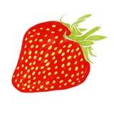 Erdbeeraquarellmalerei Lizenzfreie Stockfotografie