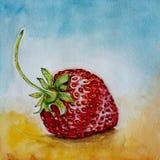 Erdbeere-Aquarell Stockfotografie