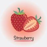 Erdbeere Auch im corel abgehobenen Betrag Lizenzfreies Stockfoto