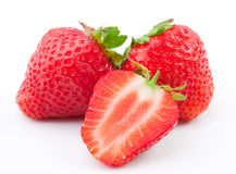 Erdbeere auf einem weißen Hintergrund Stockfoto