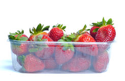 Erdbeere auf Platte Lizenzfreie Stockbilder
