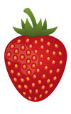 Erdbeere auf Weiß stock abbildung