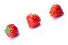 Erdbeere auf Weiß stockfotos