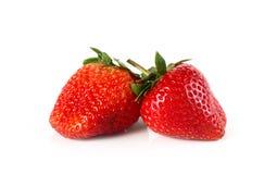 Erdbeere auf weißem Hintergrund Lizenzfreie Stockfotos