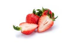 Erdbeere auf weißem Hintergrund stockfoto