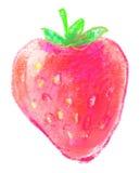 Erdbeere auf weißem Hintergrund Lizenzfreie Stockbilder