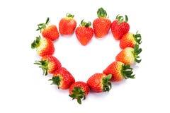 Erdbeere auf weißem Hintergrund stockbild