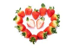 Erdbeere auf weißem Hintergrund lizenzfreies stockfoto