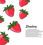 Erdbeere auf weißem Hintergrund Vektorillustration von Beeren Stockbilder