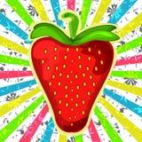 Erdbeere Beere auf Schmutzhintergrund Stockbilder