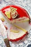 Erdbeere-bombe Torte stockfoto