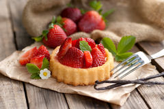 Erdbeere cake Lizenzfreies Stockfoto