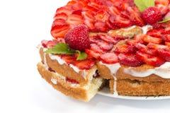Erdbeere cake Stockbild