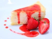 Erdbeere cake Lizenzfreies Stockbild