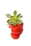 Erdbeere in den Scheiben lizenzfreie stockbilder