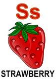 Erdbeere des Zeichens S Lizenzfreie Stockbilder