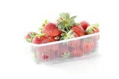 Erdbeere in einem Korb Stockfotografie