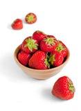 Erdbeere in einer Schüssel Stockbilder