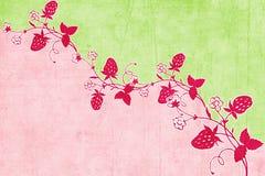 Erdbeere-Einklebebuch-Hintergrund Stockbilder