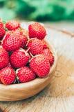 Erdbeere Erdbeeren Organische Beeren Stockbild