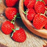 Erdbeere Erdbeeren Organische Beeren Lizenzfreies Stockbild