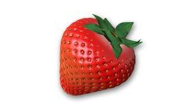 Erdbeere, Frucht lokalisiert auf Weiß Lizenzfreies Stockbild