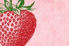 Erdbeere-Funkeln-Einklebebuch-Hintergrund Lizenzfreie Stockbilder