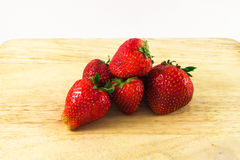 Erdbeere getrennt auf weißem Hintergrund Lizenzfreie Stockfotografie