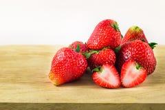 Erdbeere getrennt auf weißem Hintergrund Lizenzfreie Stockbilder