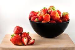 Erdbeere getrennt auf weißem Hintergrund Stockbild