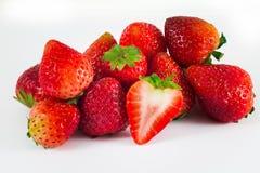 Erdbeere getrennt auf weißem Hintergrund Lizenzfreie Stockfotos