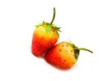 Erdbeere ist sauer Stockfotos