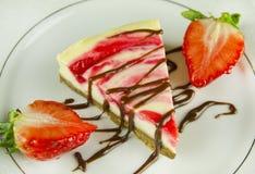 Erdbeere-Käsekuchen Lizenzfreie Stockfotografie