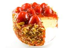 Erdbeere-Käsekuchen Lizenzfreie Stockbilder