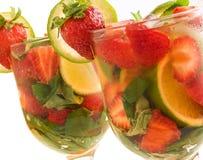 Erdbeere-Kalk mojito Stockbild