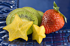Erdbeere, Kiwi und Sternfrucht Lizenzfreies Stockfoto