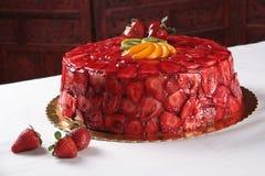 Erdbeere-Kuchen Lizenzfreies Stockbild