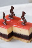 Erdbeere-Kuchen stockfoto