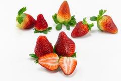 Erdbeere lokalisierte eine Scheibe Lizenzfreie Stockfotos