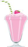 Erdbeere-Milchshake Lizenzfreie Stockbilder
