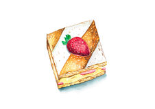 Erdbeere Mille Feuille Stockbild