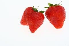 Erdbeere mit zwei Rottönen Lizenzfreies Stockfoto