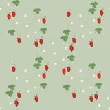 Erdbeere nahtlos Stockbild