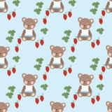Erdbeere nahtlos Lizenzfreie Stockfotografie